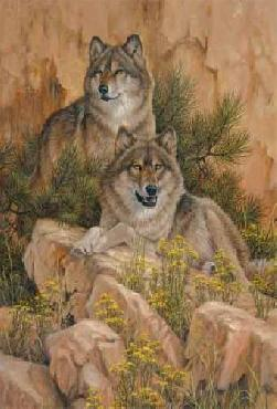 Larry Fanning Summer Retreat - Gray Wolves Artist