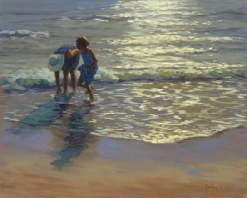 Shirley Youngs Sunlit Waves Giclee on Canvas