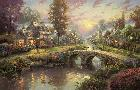 Thomas Kinkade Sunset on Lamplight Lane