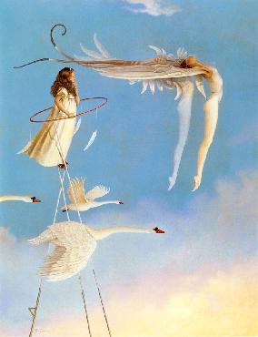Michael Parkes Swan Spirit - Steltman Editions EXCLUSIVE SOURCE FOR SOLD OUT STELTMAN EDITION