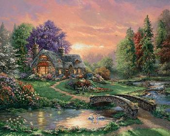Thomas Kinkade Sweetheart Retreat SN Paper
