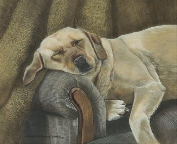 Susan Yoder Taking A Break Giclee on Museum Paper