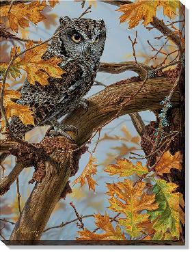 Lee Kromschroeder Tapestry - Screech Owl