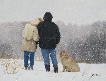 John Weiss Tender Moments Giclee on Canvas