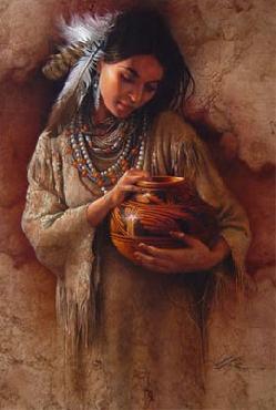 Lee Bogle Red Pot Giclee on Canvas