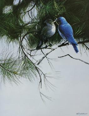 Mario Fernandez Thinking Blue Artist