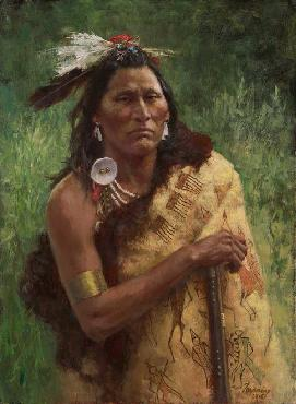 Howard Terpning Three Trophies Giclee on Canvas
