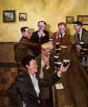 Michael Carson The Toast Giclee on Canvas