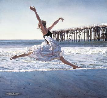 Steve Hanks To Dance Before the Sea and Sky Giclee on Canvas
