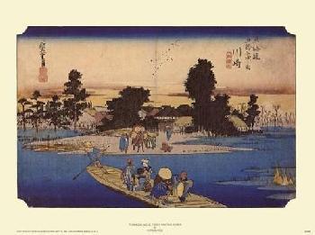 Hiroshige Tokaido No 3 Ferry on the River