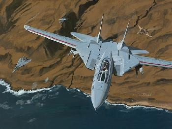 K. Price Randel Top Gun Tomcats Canvas