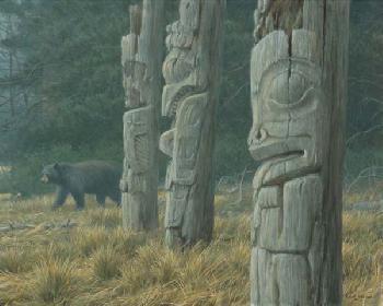 Robert Bateman Totem and Bear Artist