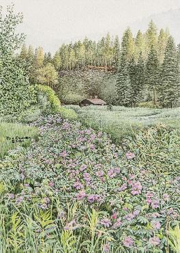 Jon Crane Trail of Roses Giclee on Paper