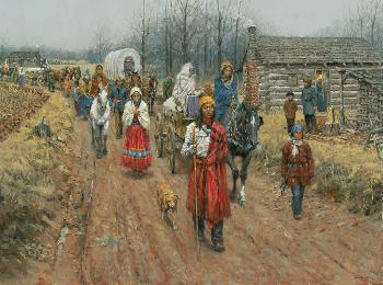 Andy Thomas Trail of Tears in Springfield - Cherokees Signed Open Edition on Paper