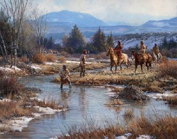 Martin Grelle Trappers in the Wind Rivers Open Edition on Paper