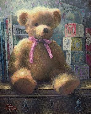 Thomas Kinkade Trusted Friend - Rose Bud Gallery Proof on Canvas