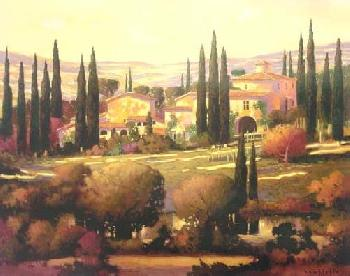 Max Hayslette Tuscan Gold Giclee on Canvas