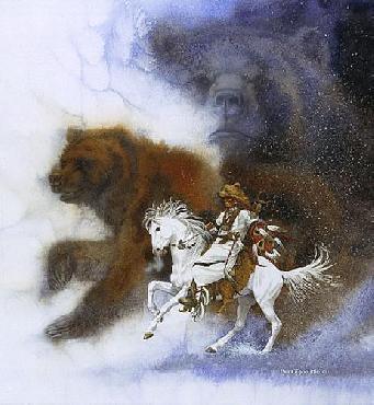 Bev Doolittle Two Bears of the Blackfeet