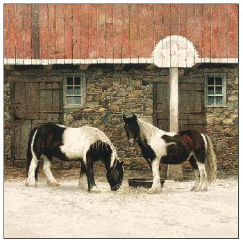 Peter Sculthorpe Two Brood Mares Giclee on Paper