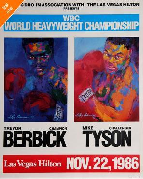 LeRoy Neiman Tyson vs Berbick Hand Signed by LeRoy Neiman Last One!