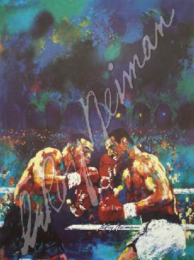 LeRoy Neiman Tyson vs Spinks Open Edition on Paper