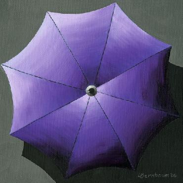 Lynne Bernbaum Umbrellas Purple Canvas Giclee