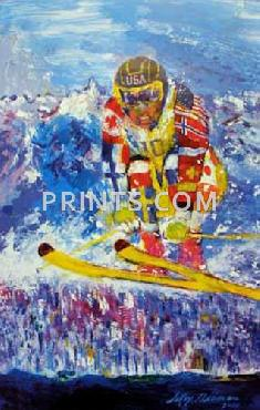 LeRoy Neiman Vancouver Skier Hand Signed by LeRoy Neiman