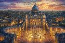 Thomas Kinkade Vatican Sunset