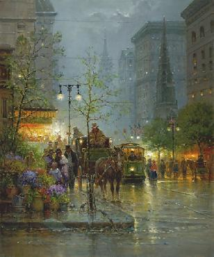 G. Harvey Vendors on Fifth Avenue Artist