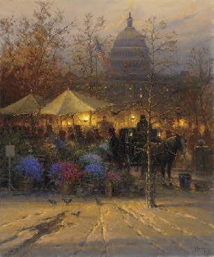 G. Harvey Vendors on the Avenue Artist
