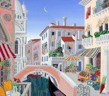 Thomas McKnight Venetian Afternoon Giclee on Canvas