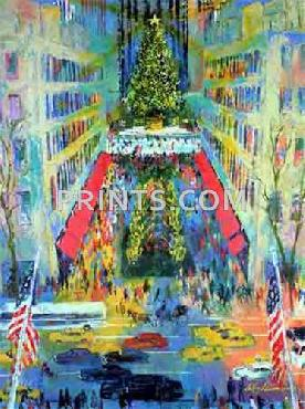 LeRoy Neiman View From Saks Open Edition Serigraph on Paper