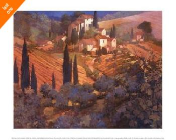 Philip Craig View from San Gimignano   LAST ONES IN INVENTORY!!