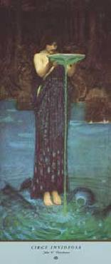 John William Waterhouse Circe Invidiosa Embossed Authorized Edition