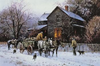 Martin Grelle Wagonload of Warmth Canvas