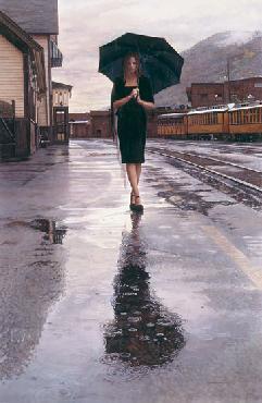 Steve Hanks Waiting in the Rain Artist