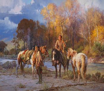 Martin Grelle Waiting on the Sun Giclee on Canvas