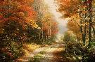 Thomas Kinkade Walk Down Autumn Lane