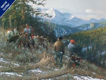 Michael Sieve Wapiti Ridge Print #1/95 Artist