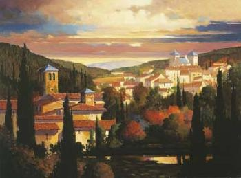 Max Hayslette Warm Autumn Sun Giclee on Canvas