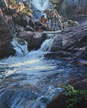 David Yorke Water Speaks Giclee on Canvas