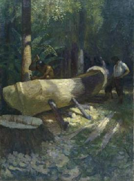Newell Convers Wyeth We cut and hewed the outside Open Edition Giclee on Canvas