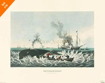 Currier and Ives The Whale Fishery NO LONGER IN PRINT - LAST ONE!!