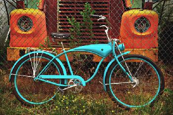 Todd Van Fleet Wheels of Yesterday Signed Open Edition Giclee on Canvas