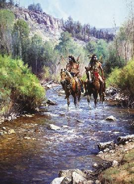 Martin Grelle When Horses Leave No Tracks Signed Open Edition Giclee on Canvas