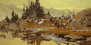 Frank McCarthy Where Tracks Will Be Lost Giclee on Canvas