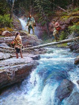 Martin Grelle Where Waters Run Cold Signed Open Edition Giclee on Canvas