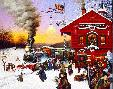 Charles Wysocki Whistle Stop Christmas
