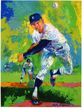 LeRoy Neiman Whitey Ford Hand Pulled Serigraph