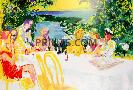LeRoy Neiman Wine Alfresco